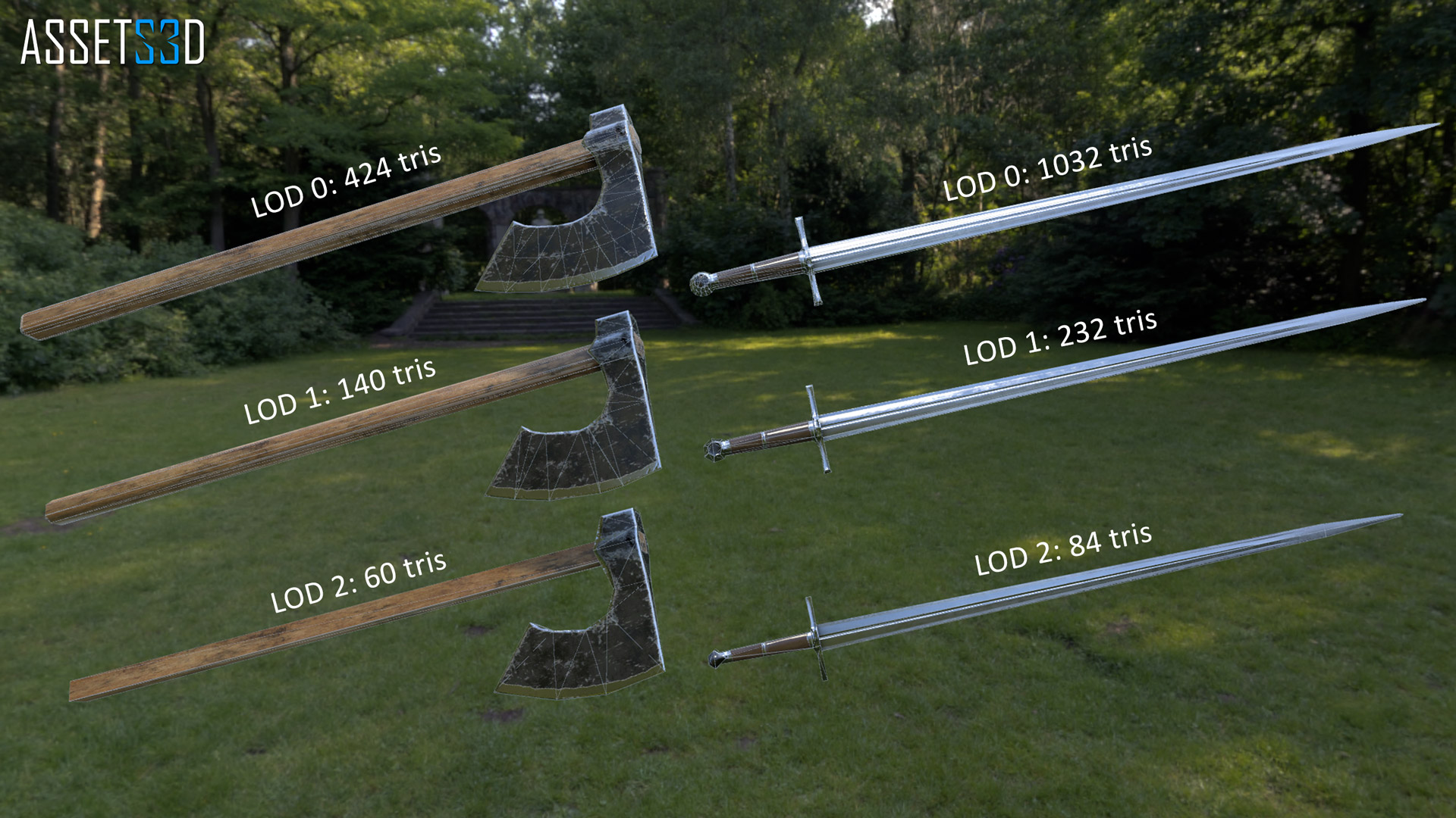 Unity – Medieval Weapon Set 01 – FREE – Assets3D